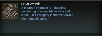 Weapon Category Descriptions
