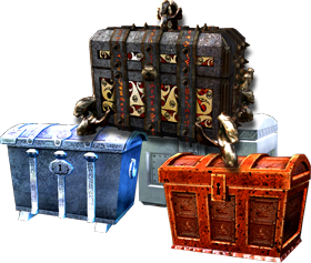 Premium page image, a pile of chests