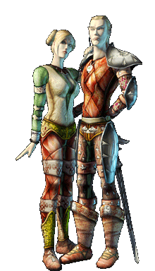 Female and male of the Mirdain race