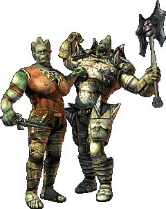 Female and male of the Ork race